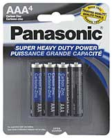 Panasonic Super Heavy Duty AAA Battery - Pack of 4
