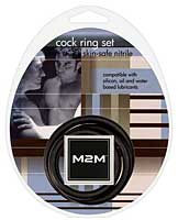 M2M Nitrile Cock Ring - Pack of 3 Black