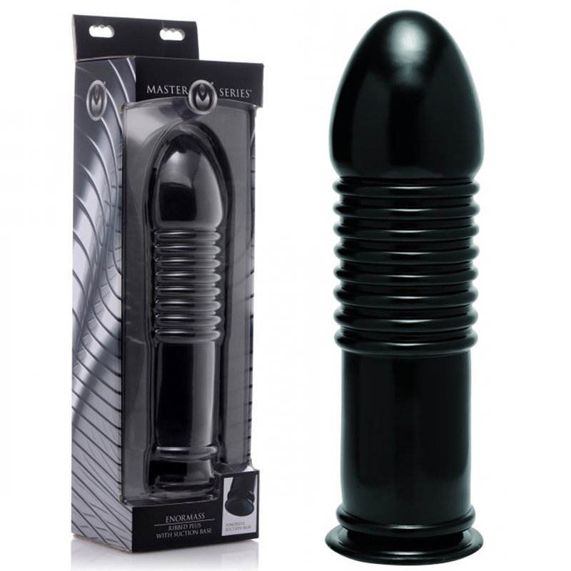 Masters Violator Ribbed Butt Plug With Suction Base