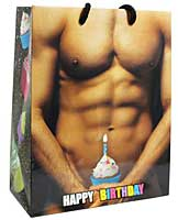 Happy Birthday! Man w/Cup Cake Gift Bag