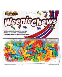 Weenie Chews Candies - Asst. Flavors Bag of 125