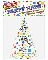 Happy Fucking Birthday Hats - Bag of 8