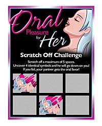 Oral Pleasure for Her Scratch Off Challenge
