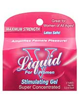 Liquid V Female Stimulant - Box of 3 Pillow Packs