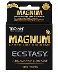 Trojan Magnum Ecstasy Condoms - Box of 3