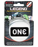 ONE The Legend XL Condoms - Box of 3