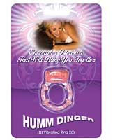Humm Dinger Vibrating Cockring - Purple