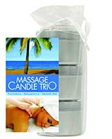 Earthly Body Massage Candle Trio Gift Bag - 2 oz Skinny Dip, Dre