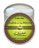 Suntouched Hemp Candle - 6.8 oz Round Tin Naked in the Woods