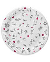"7"" Dirty Dishes Position Plates - Bag of 8"