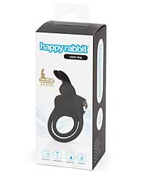 Happy Rabbit Love Ring Rechargeable - Black