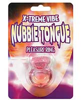 X-treme Vibe Nubbie Tongue Pleasure Ring - Magenta