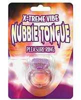 X-treme Vibe Nubbie Tongue Pleasure Ring - Purple
