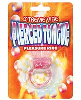 X-treme Vibe Pierced Tongue Pleasure Ring - Magenta