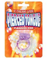 X-treme Vibe Pierced Tongue Pleasure Ring - Purple