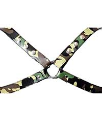 Sensual Sin Leather X Harness - Camo Small/Medium