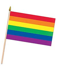 Rainbow Fabric Flag