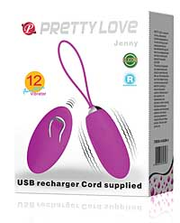 Pretty Love Jenny Remote Control Bullet - Purple