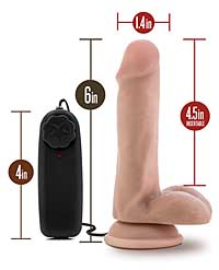 Blush Dr. Skin Dr. Rob 6 inch Cock w/Suction Cup - Vanilla
