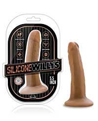"Blush Willy's 5.5"" Silicone Dildo w/Suction Cup - Mocha"