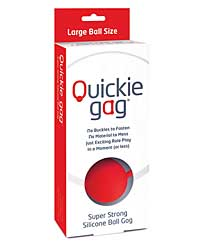 Quickie Ball Gag Large - Red