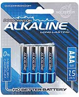 Doc Johnson Alkaline Batteries - AAA 4 Pack