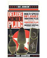 Deluxe Wonder Plug Inflatable Vibrating Butt Plug - Multi-Speed