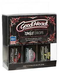 Good Head Tingle Drops 3 Pack - Sweet Cherry/Cotton Candy/Frenc