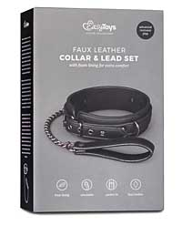 Easy Toys Fetish Collar w/Leash - Black