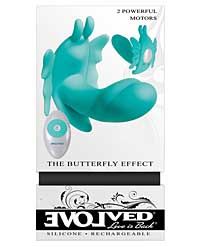 Evolved The Butterfly Effect Rechargeable Dual Stim - Teal