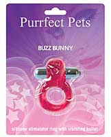 Purrfect Pet Buzz Bunny Stimulating Pleasure Ring - Magenta