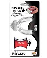 Tongue Star Vibe w/10 ml Liquor Lube Pillow - Clear