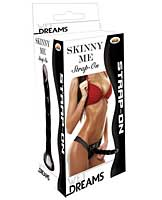 "Wet Dreams Skinny Me 7"" Strap on w/Harness - Black"