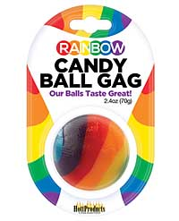 Rainbow Candy Ball Gag - Strawberry