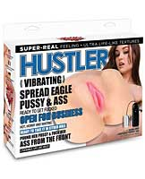 Hustler Toys Sasha Grey Vibrating Spread Eagle Pussy & Ass w
