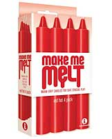 The 9's Make Me Melt Sensual Warm Drip Candles - Red Hot Pack of