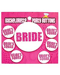 Bachelorette Party Button - Bride/Bride's Squad