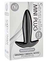 Sensuelle Mini Butt Plug - Black