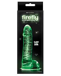 "Firefly Glass Smooth Ballsey 4"" Dildo - Clear"