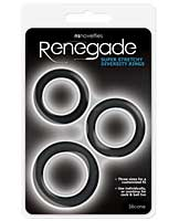 NS Novelties Renegade Diversity Rings - Black Pack of 3