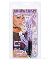 Jelly Mini Rabbit Vibro Wand - Purple