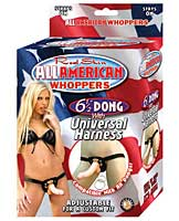 "All American Whoppers 6.5"" Dong w/Universal Harness"