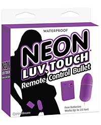 Neon Luv Touch Remote Control Bullet - Purple