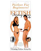 Fetish Fantasy Series for Him or Her Vibrating Hollow Strap-On -