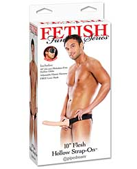 "Fetish Fantasy Series 10"" Hollow Strap On - Flesh"