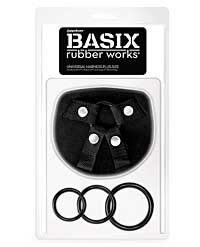 Basix Rubber Works Universal Harness Plus Size - Black