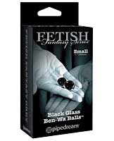 Limited Edition Fetish Fantasy Black Glass Ben-Wa Balls - Small