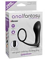 Anal Fantasy Collection Ass Gasm Vibrating Plug w/Cockring