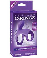Fantasy C Ringz Ultimate Couples Cage - Purple