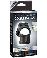 Fantasy C-Ringz Rock Hard Ring & Ball Stretcher - Black